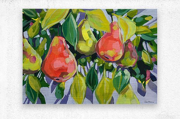 Too Many Pears  Metal print