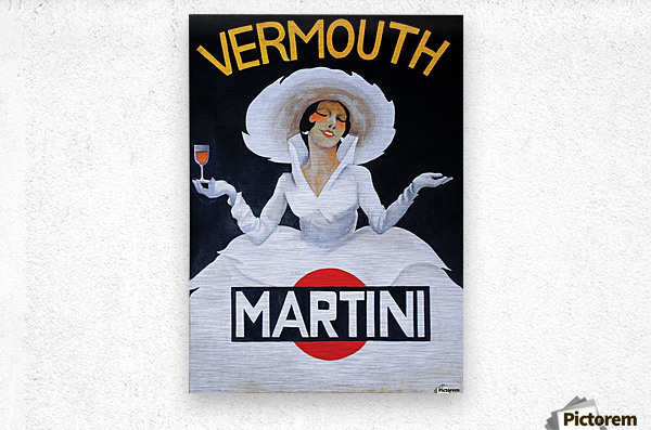 Martini Rossi  Metal print