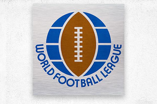 1974 World Football League Logo Art  Metal print