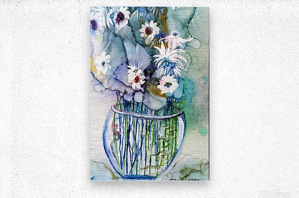 Blue Floral  Impression metal