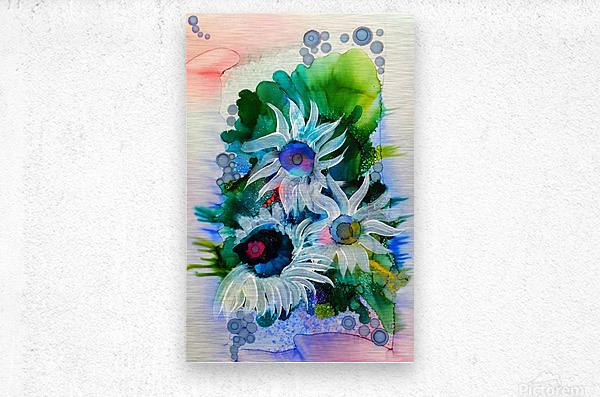 Floral Burst  Impression metal