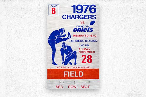1976 San Diego Chargers vs. Kansas City Chiefs  Metal print