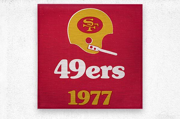 1977 San Francisco 49ers Helmet Art  Metal print