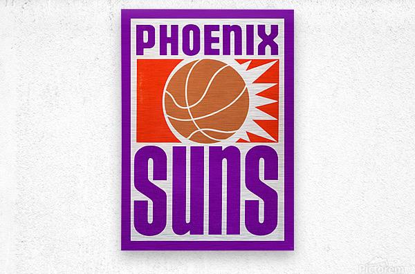 1970 Phoenix Suns Basketball Art  Metal print