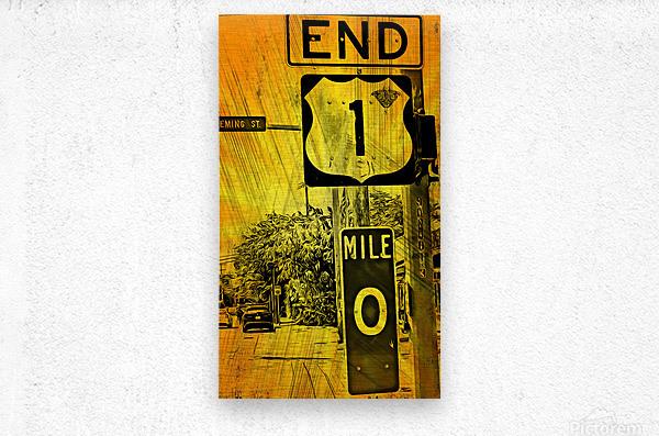 Key West Mile 0  Metal print
