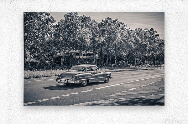 American oldtimer car from the 1950s  Metal print