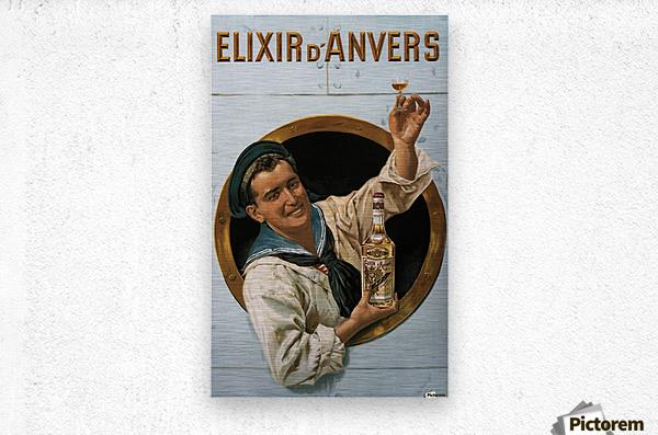 Elixir DAnvers Vintage Advertising Poster  Metal print