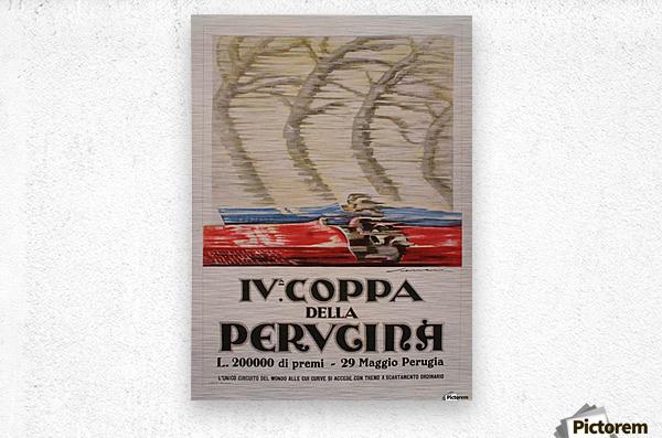 Italian Art Deco Period Race Car Poster by Federico Seneca, 1927  Metal print