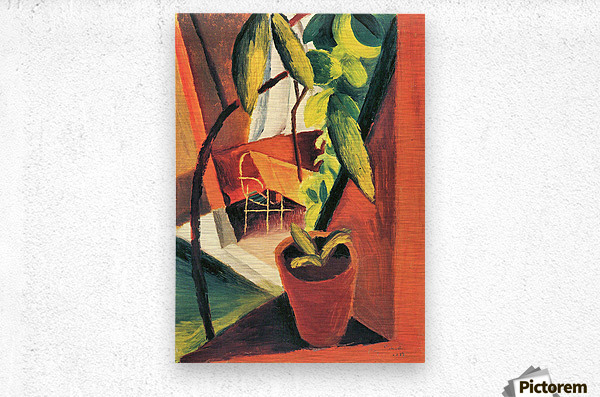 A look into summer-house by August Macke  Metal print