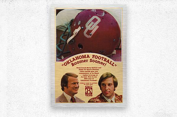 1977 Oklahoma Football Show Ad Barry Switzer   Metal print