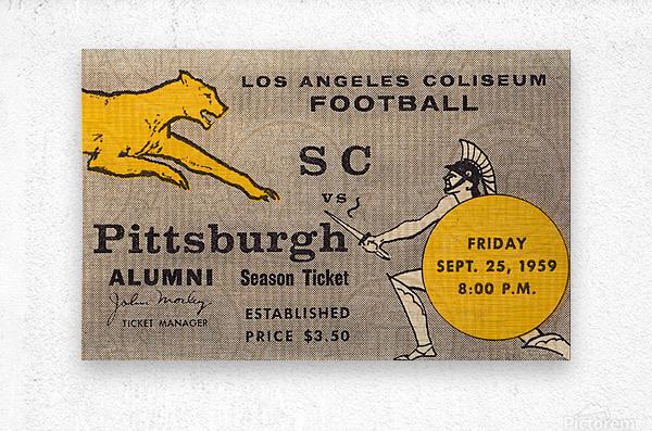 1959 Pittsburgh Panthers vs. USC Trojans  Metal print