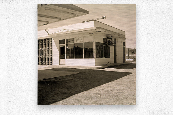 Urban Loneliness - The Gas Station  Metal print