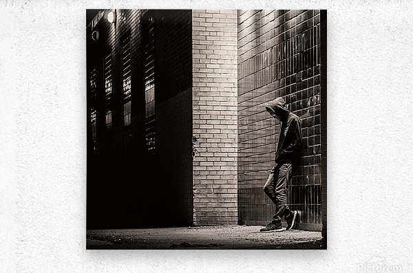 Urban Loneliness - The Lonely Teen  Metal print