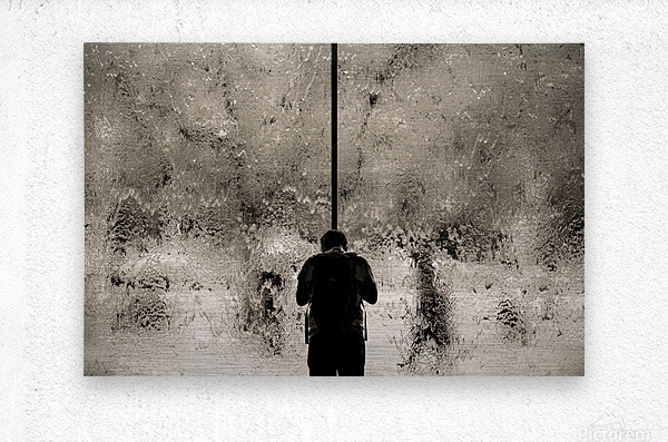Urban Loneliness - Rain  Metal print