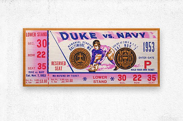 1953 Duke vs. Navy   Metal print
