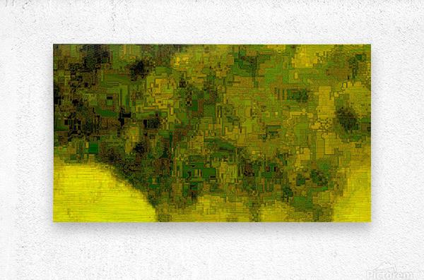 Green Hieroglyphic  Metal print
