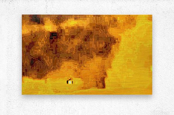 Golden Hieroglyphic  Metal print