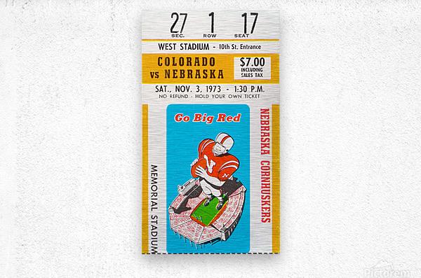 1973 Nebraska Cornhuskers vs. Colorado Buffaloes  Metal print