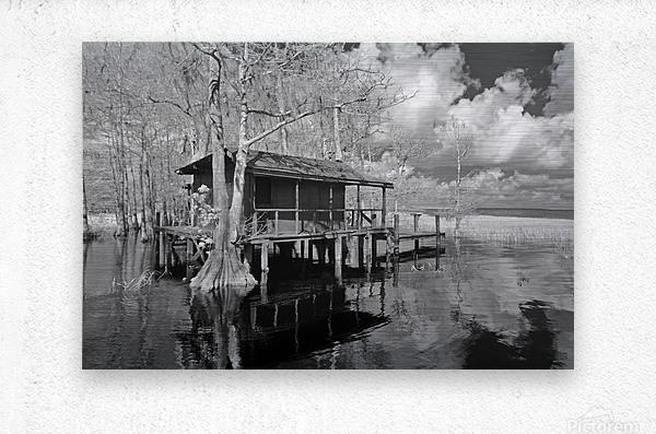 Fish Camp at Blue Cypress Lake Florida  Metal print