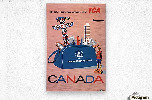 Vintage Toronto travel poster  Metal print