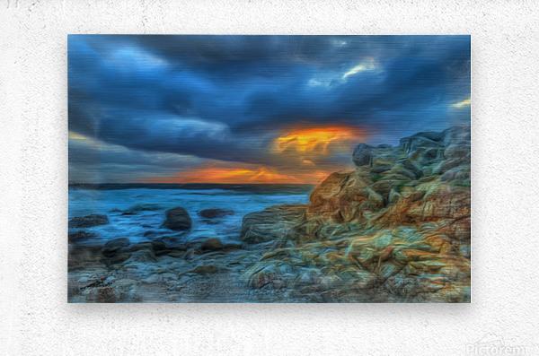 Evening Storm  Metal print
