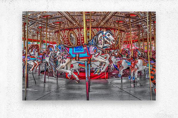 Galloping in Circles  Metal print