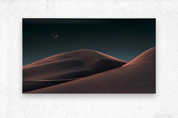 Lunar Sands  Metal print