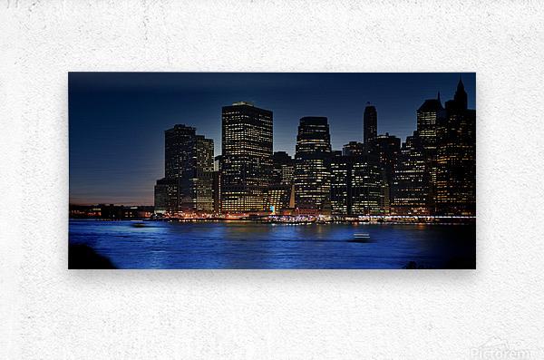 Brooklyn   USA Skyline  Metal print