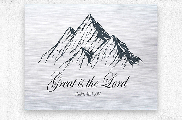 Great is the Lord  Metal print