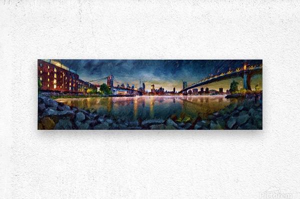 Brooklyn Cove Panorama Painting   Metal print