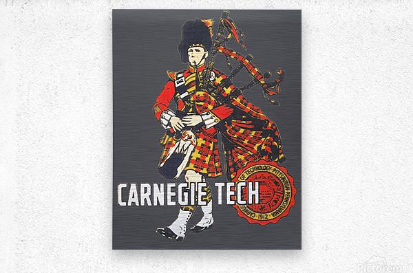 1950s Carnegie Tech Tartans Vintage Art   Row 1  Metal print