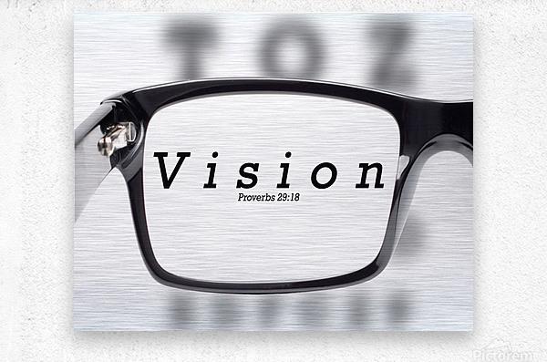 vision 2  Metal print