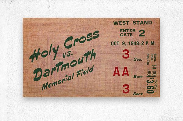 1948 Dartmouth Indians vs. Holy Cross Crusaders | Row 1  Metal print