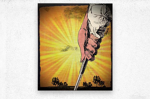 1985 Golf Art   Row 1  Metal print