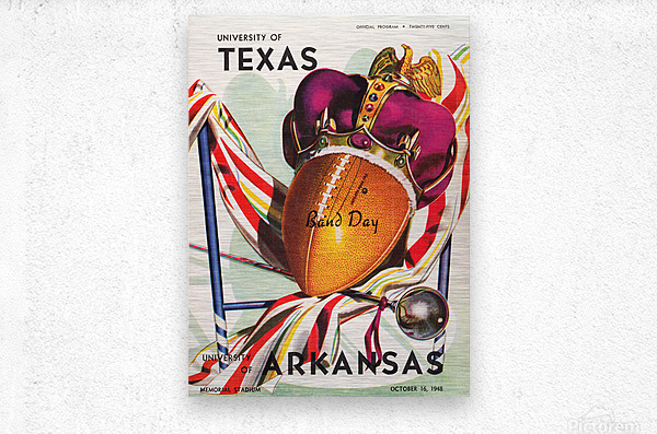1948 Texas Longhorns vs. Arkansas Razorbacks | Row 1  Metal print