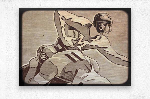 1938 Vintage Football Art   Row 1  Metal print