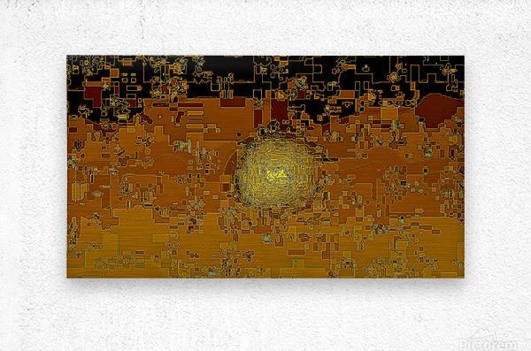 Mayan Sun  Metal print