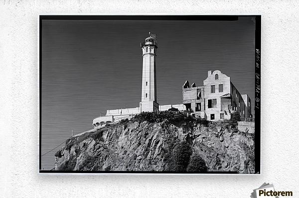Alcatraz Lighthouse, California  Metal print