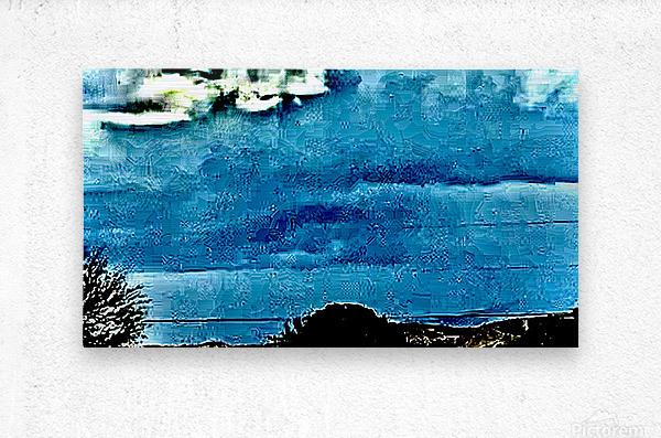 Blue Magnetic Wall  Metal print