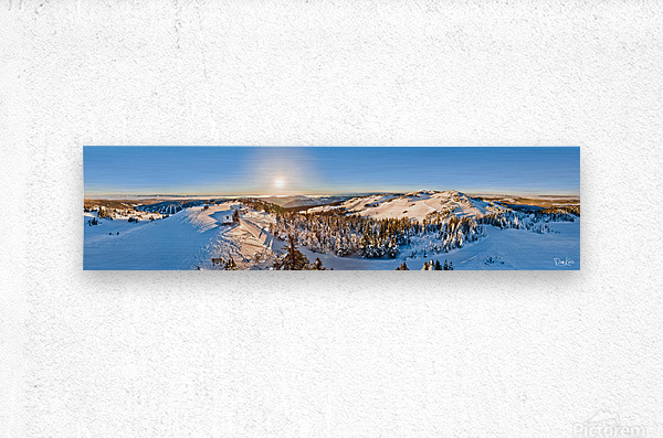 Above the Top of the World  Metal print