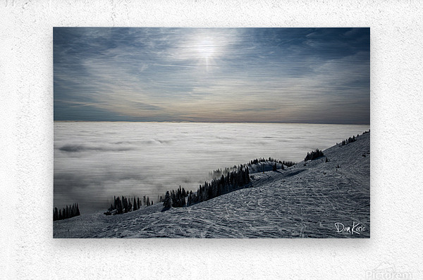 Descent to the Clouds  Metal print