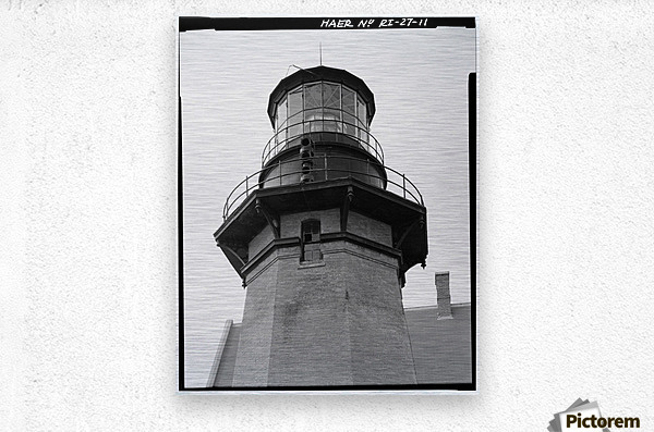 Block Island Southeast Light (Detail)  Metal print