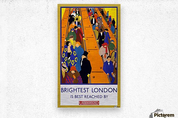 Brightest London travel poster  Metal print