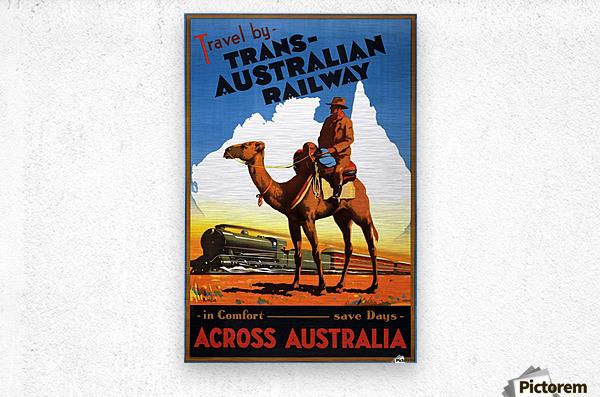 Trans Australian Railway travel poster  Metal print