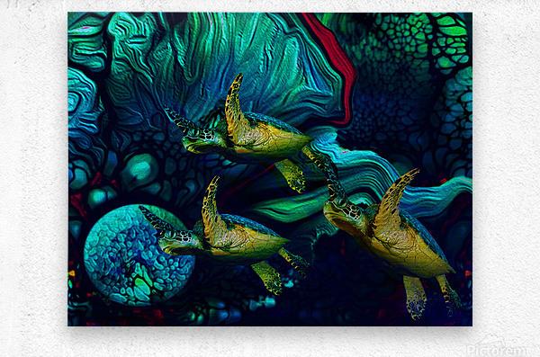 Turtles en Saison 8  Metal print