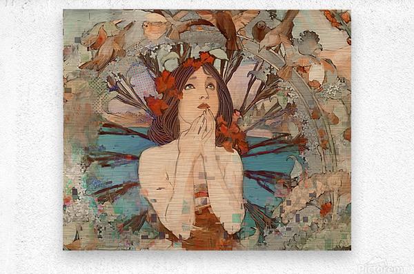 Art  Nouveau Redux  Metal print