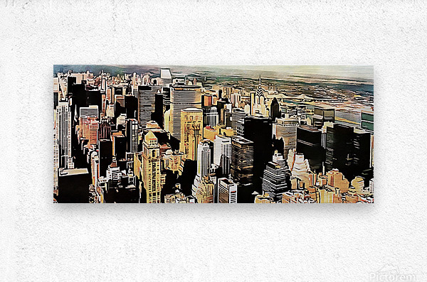 View to the Chrysler Building New York  Metal print