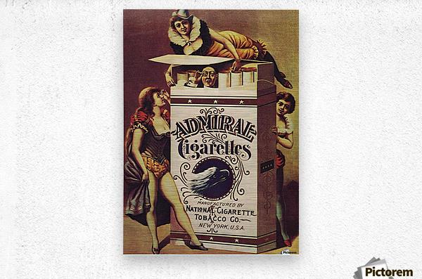 Admiral Cigarettes National Cigarette Tobacco Co Ad Poster 1890  Metal print