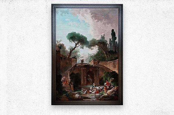 Park vile dEste by Hubert Robert Classical Fine Art Xzendor7 Old Masters Reproductions  Metal print