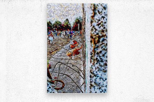 Fall of the Berlin Wall  Metal print